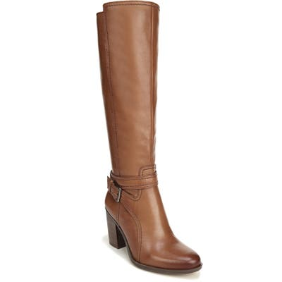 Naturalizer Kelsey Knee High Boot, Wide Calf- Brown