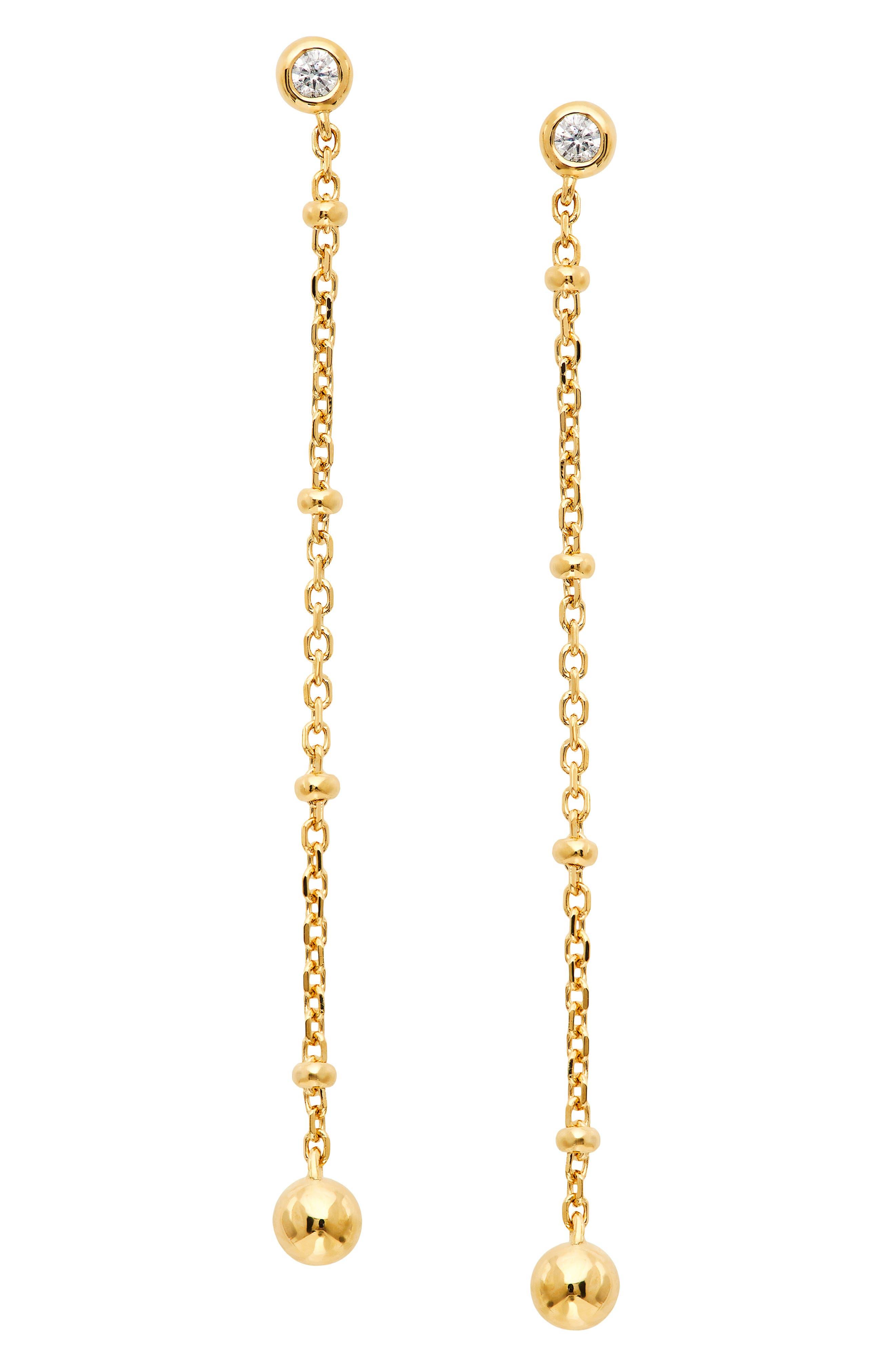 Lala Beaded Linear Drop Earrings