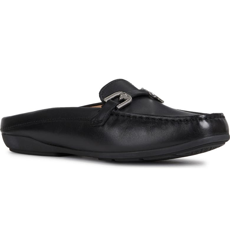 GEOX Annytah Loafer Mule, Main, color, BLACK LEATHER