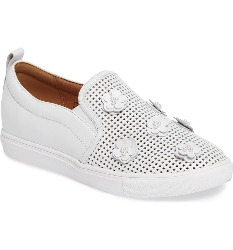 CASLON<SUP>®</SUP> Eden Perforated Slip-On Sneaker, Main, color, 100