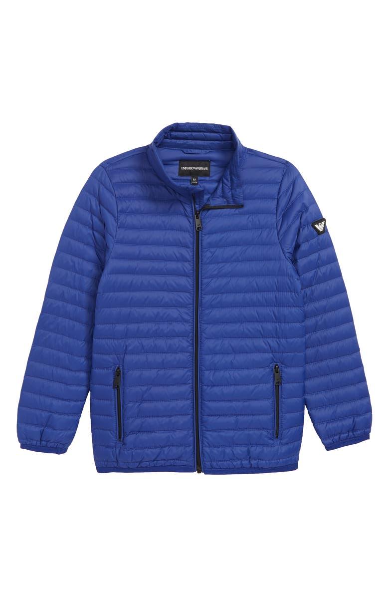 ARMANI JUNIOR Packable Puffer Coat, Main, color, 424