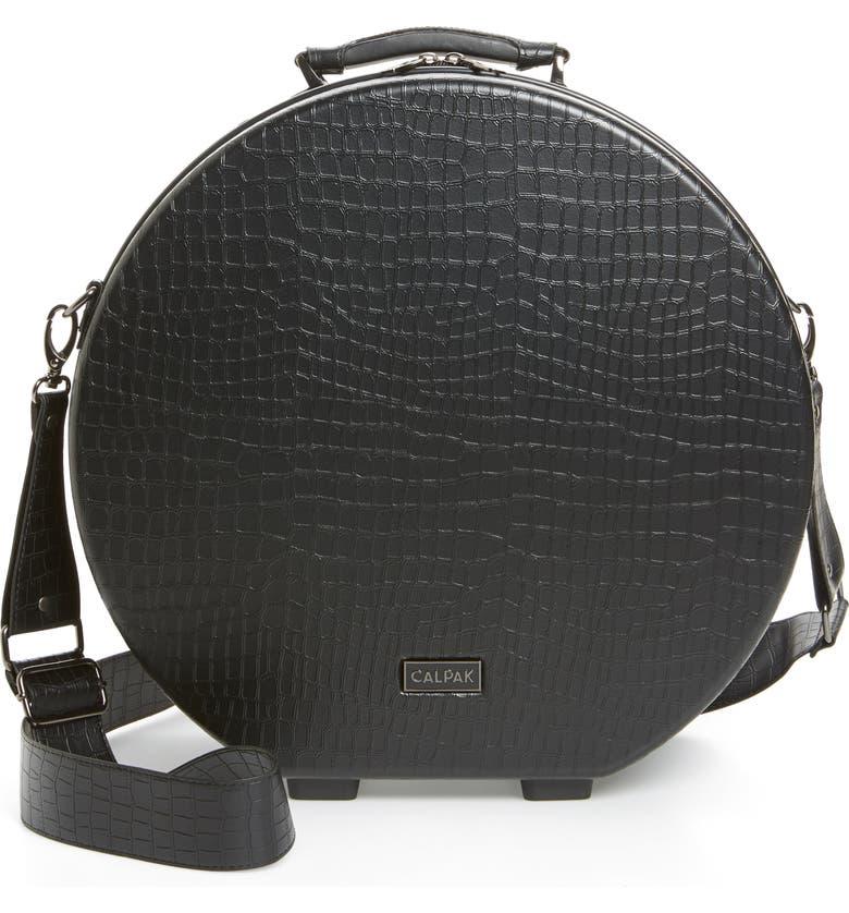 CALPAK x Oh Joy! Medium Hardcase Hat Box, Main, color, BLACK