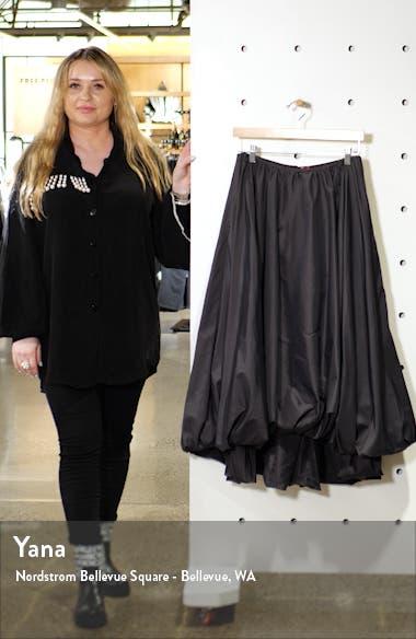 Mariposa Bubble Hem Midi Skirt, sales video thumbnail