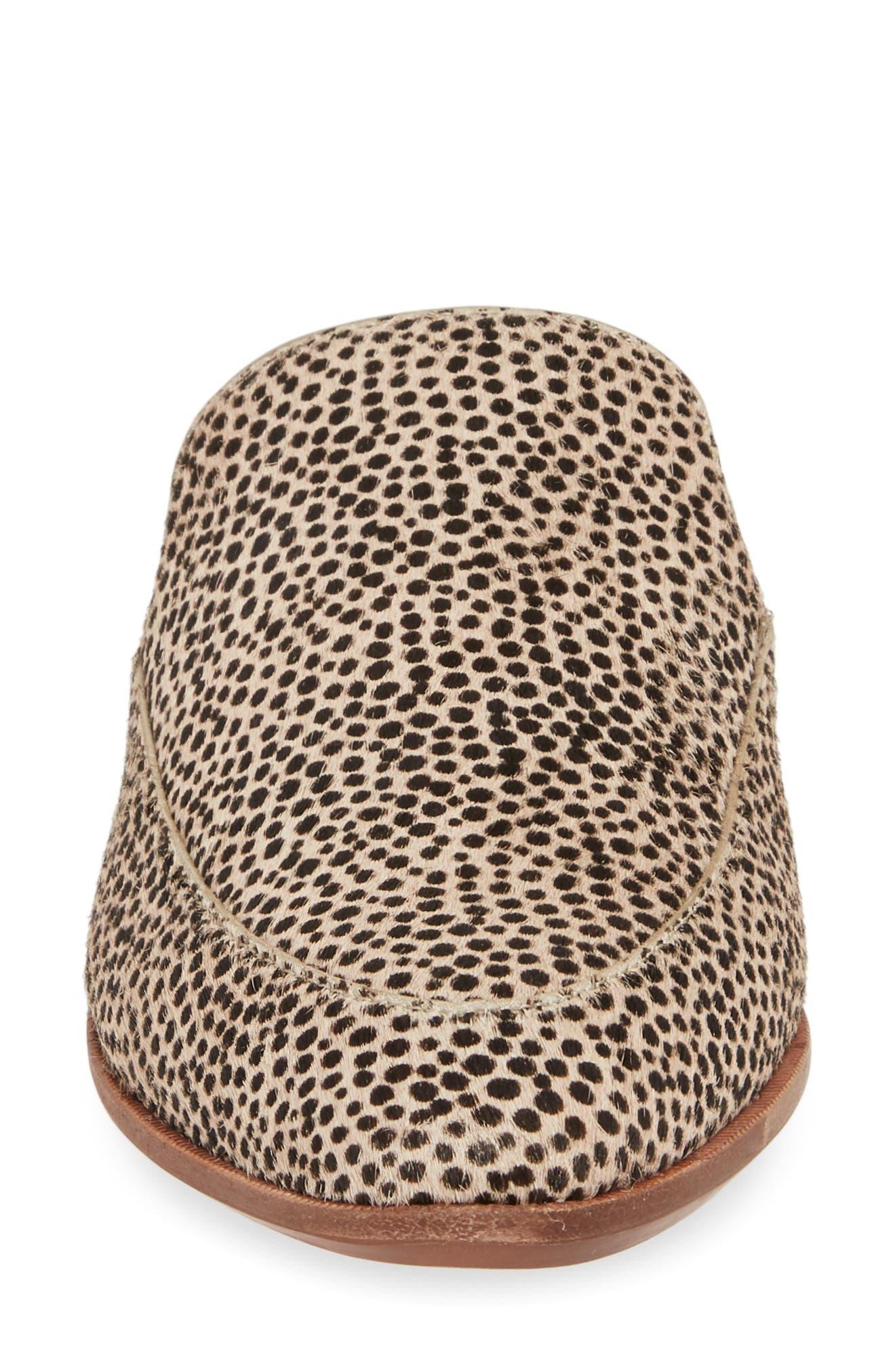 ,                             The Frances Genuine Calf Hair Mule,                             Alternate thumbnail 5, color,                             DRIED FLAX CALF HAIR