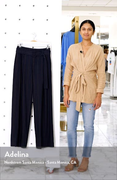 Belted Pinstripe Pants, sales video thumbnail