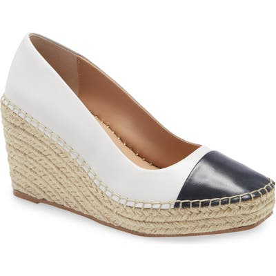Charles David Glider Espadrille Wedge Pump, White