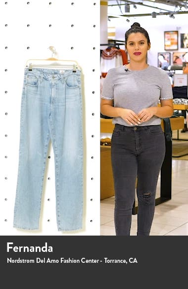 Alexxis High Waist Straight Leg Jeans, sales video thumbnail