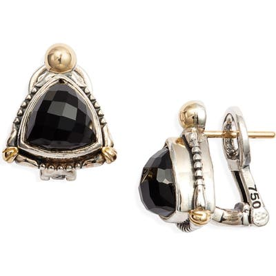 Konstantino Delos Triangle Stone Stud Earrings