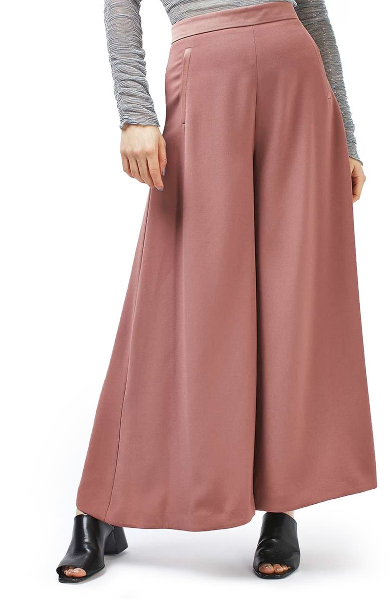 TOPSHOP Palazzo Trousers, Main, color, 651