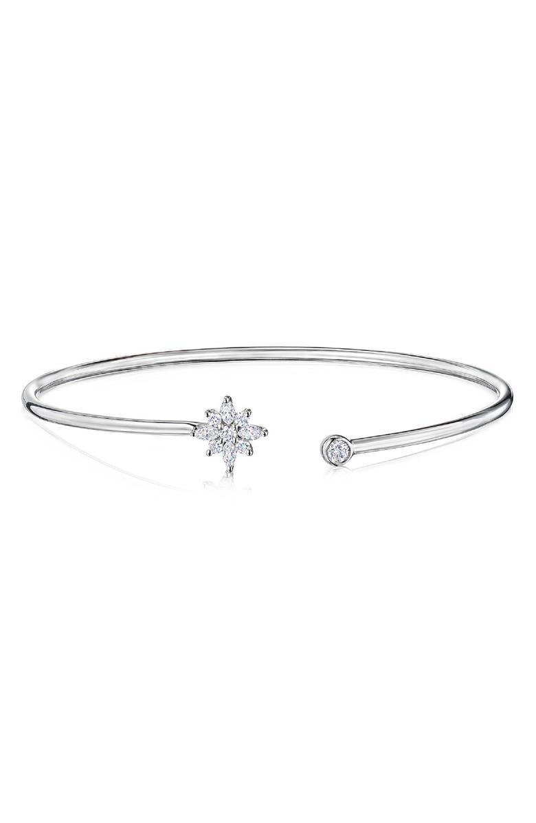 KWIAT Star Diamond Bangle, Main, color, WHITE GOLD