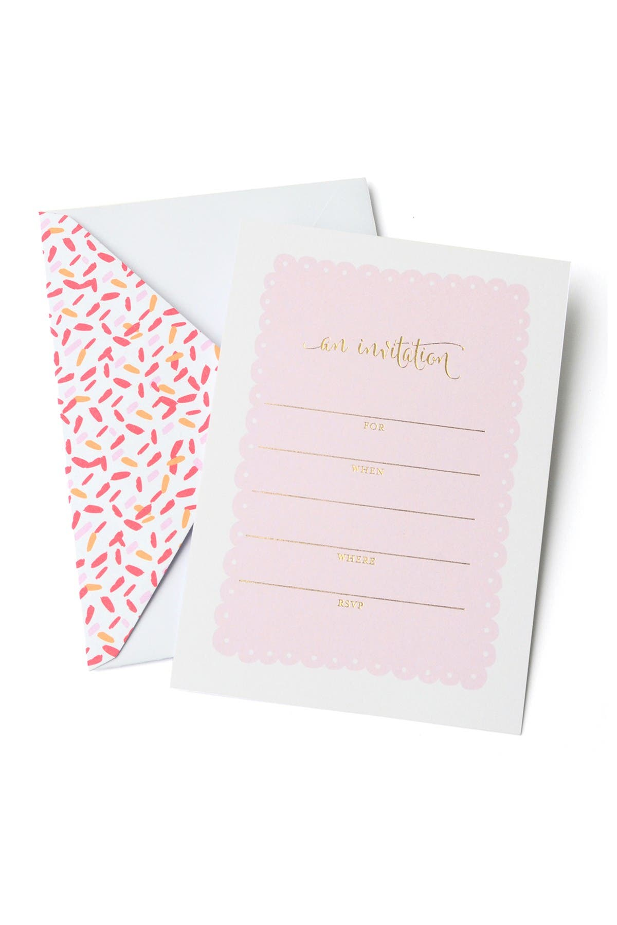 Image of GARTNER STUDIOS Pink & Gold Write-In Invitations - 60-Count