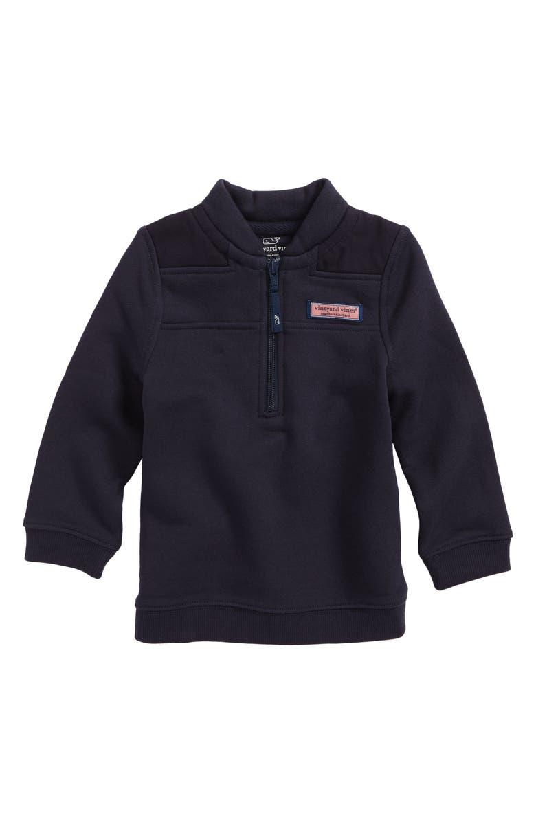 VINEYARD VINES Quarter Zip Pullover, Main, color, 410