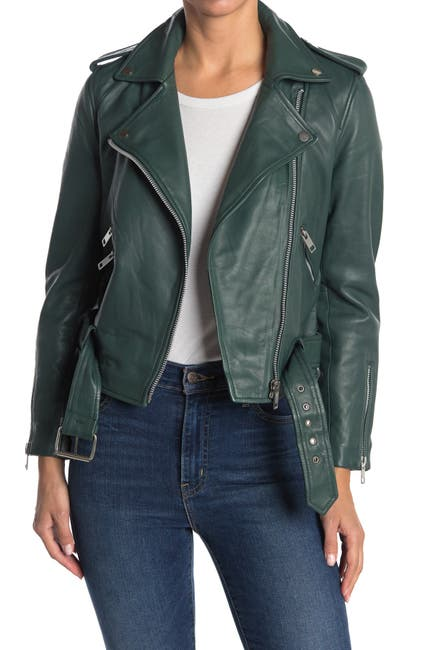 Image of Walter Baker Allison Leather Moto Jacket