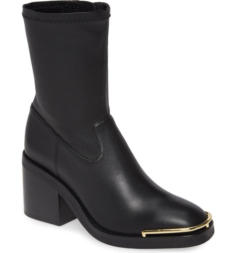 ALEXANDER WANG Hailey Sock Bootie, Main, color, BLACK
