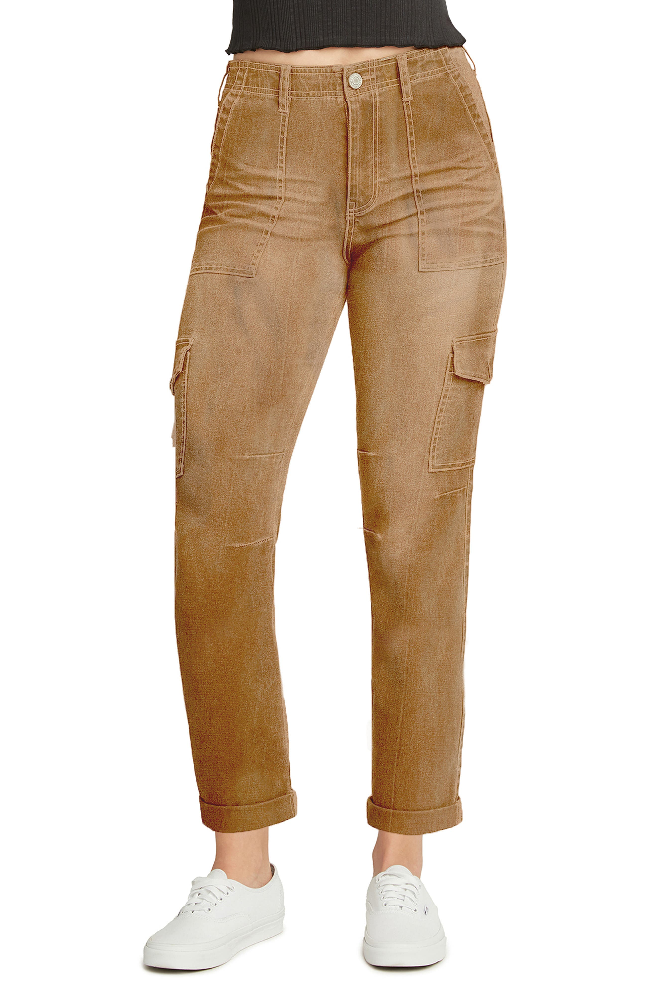 Factory Roll Cuff Stretch Cotton Utility Pants
