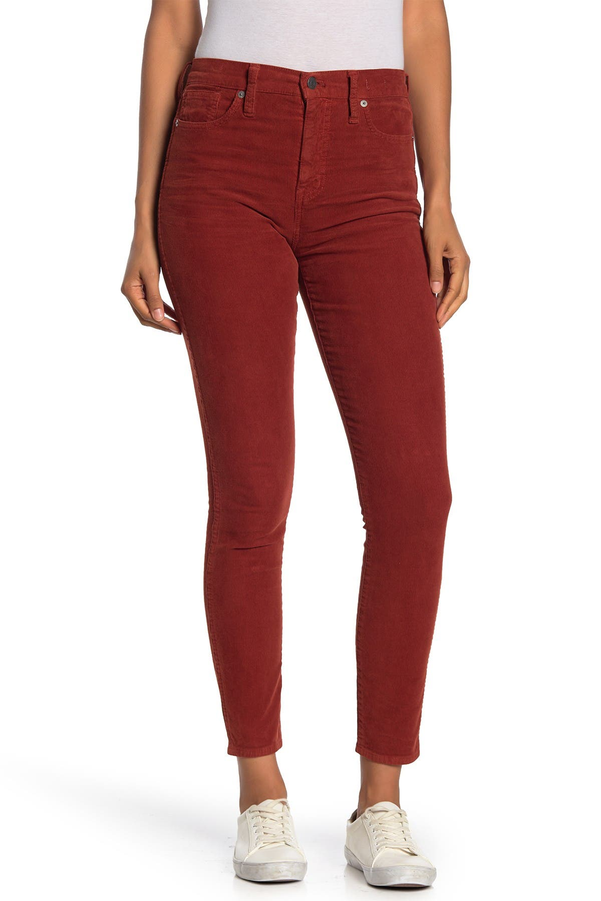 Image of Madewell High Rise Corduroy Crop Skinny Jeans
