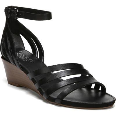 Franco Sarto Della Ankle Strap Wedge Sandal, Black