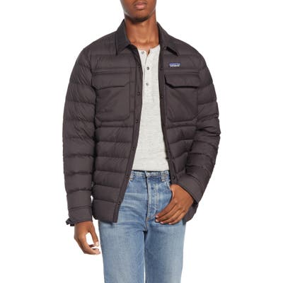 Patagonia Silent Water Repellent 700-Fill Power Down Shirt Jacket, Black