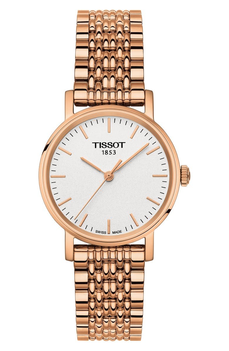 TISSOT Everytime Bracelet Watch, 30mm, Main, color, ROSE GOLD/ WHITE/ ROSE GOLD