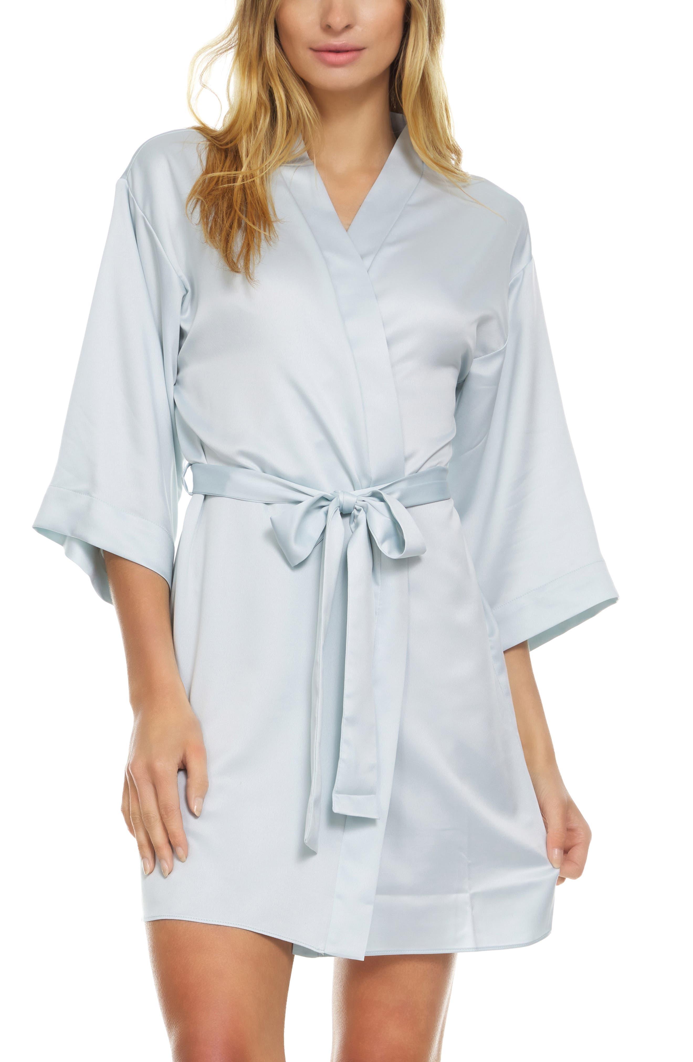 Victoria Satin Short Robe