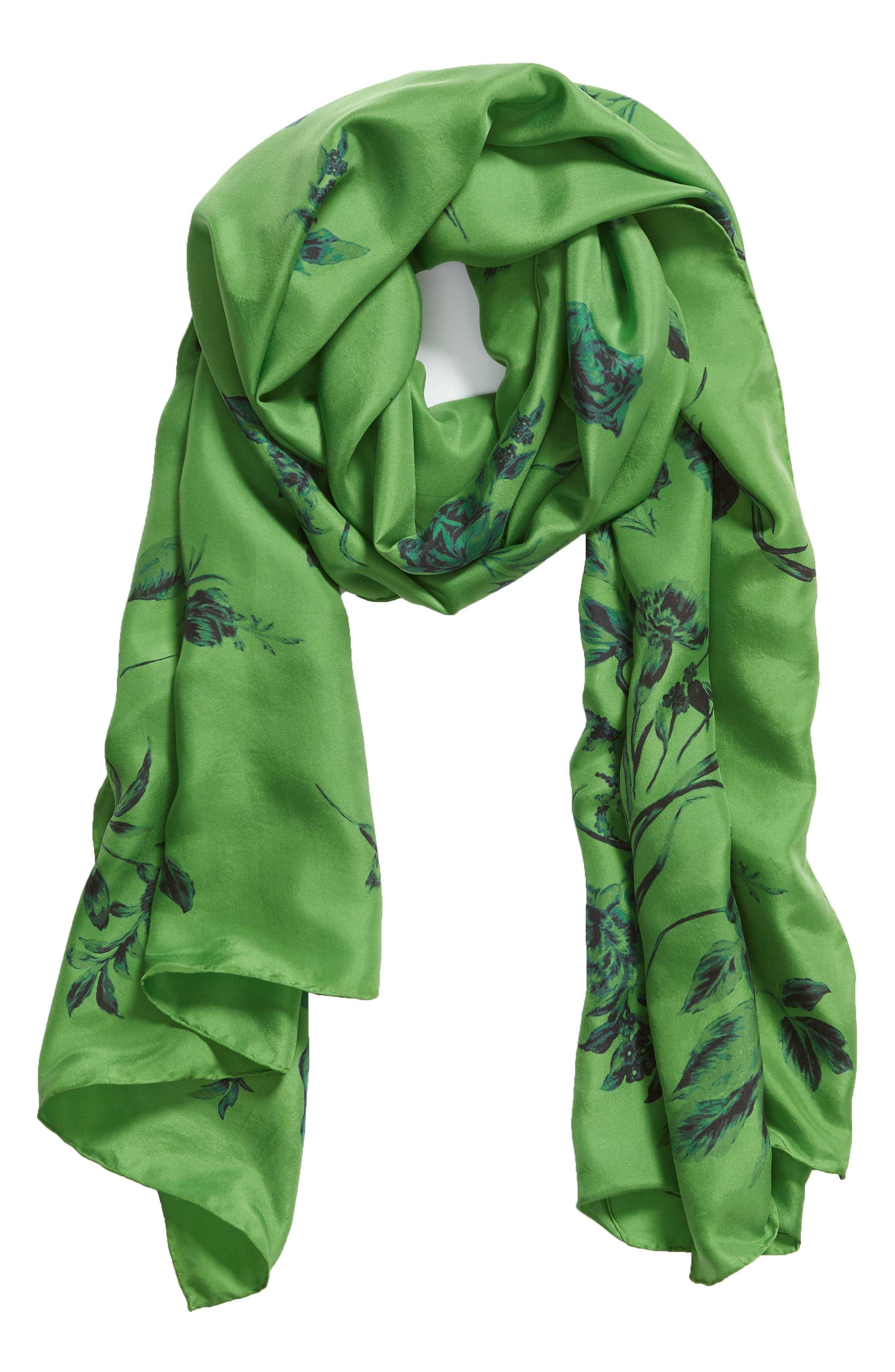 ,                             Floral Silk Wrap,                             Alternate thumbnail 2, color,                             310