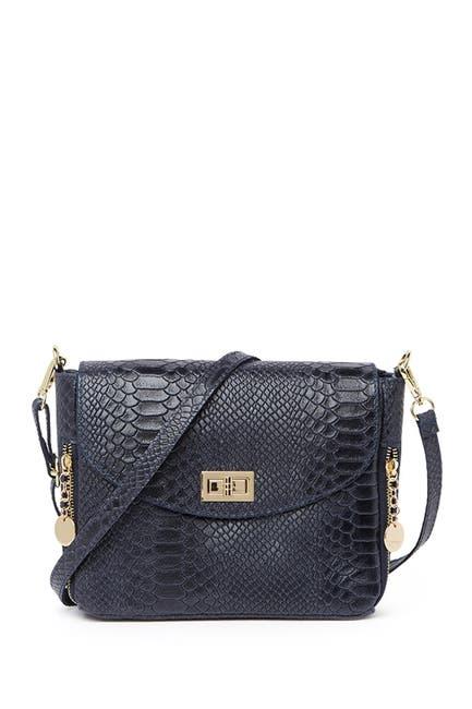 Image of Roberta M Snakeskin Embossed Crossbody Bag