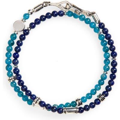 Caputo & Co. Stone Bead Wrap Bracelet