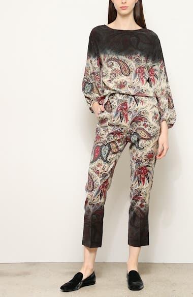 Dégradé Paisley Print Silk Blouse, video thumbnail