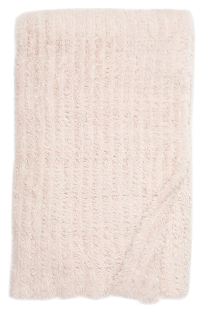NORDSTROM AT HOME Lazy Days Faux Fur Throw Blanket, Main, color, PINK FROSTY