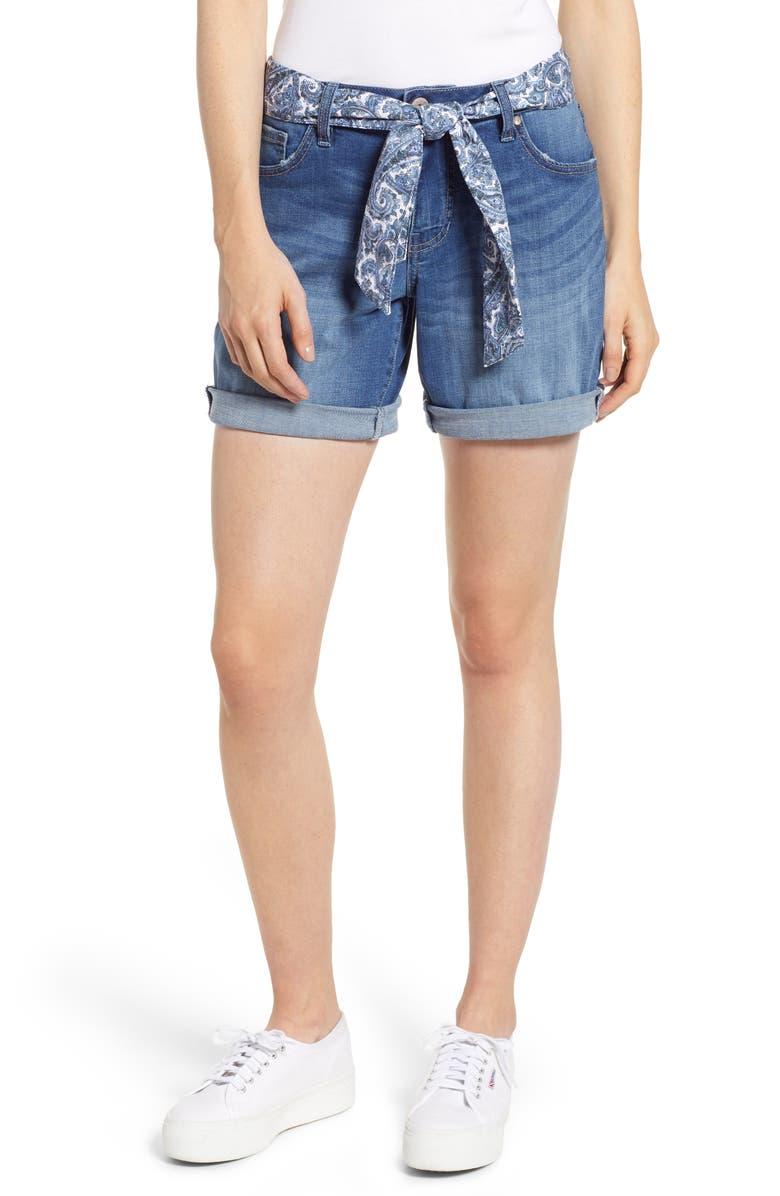 JAG JEANS Carter Girlfriend Denim Shorts, Main, color, BLUE REEF