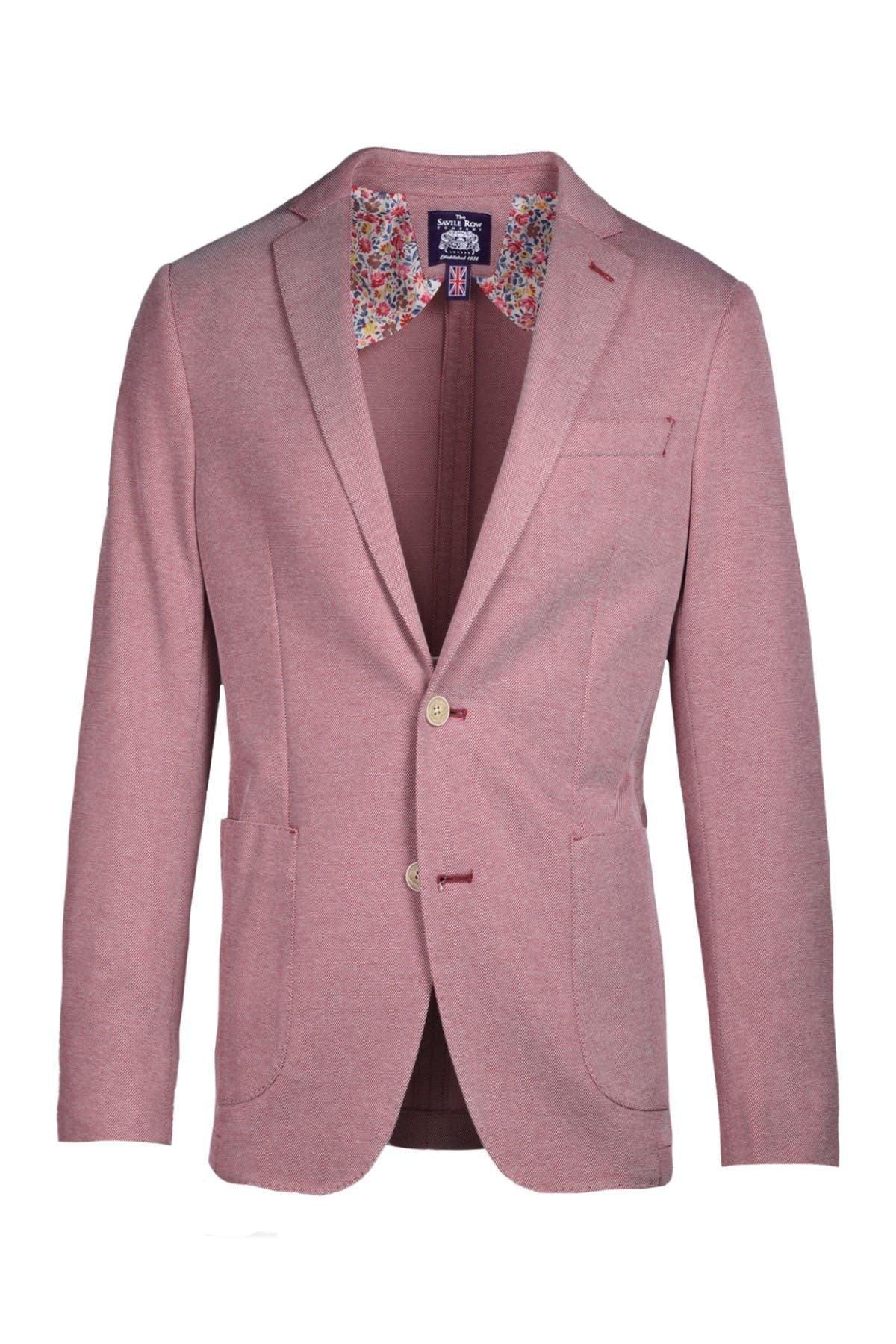 Image of SAVILE ROW CO Slim Knit Blazer