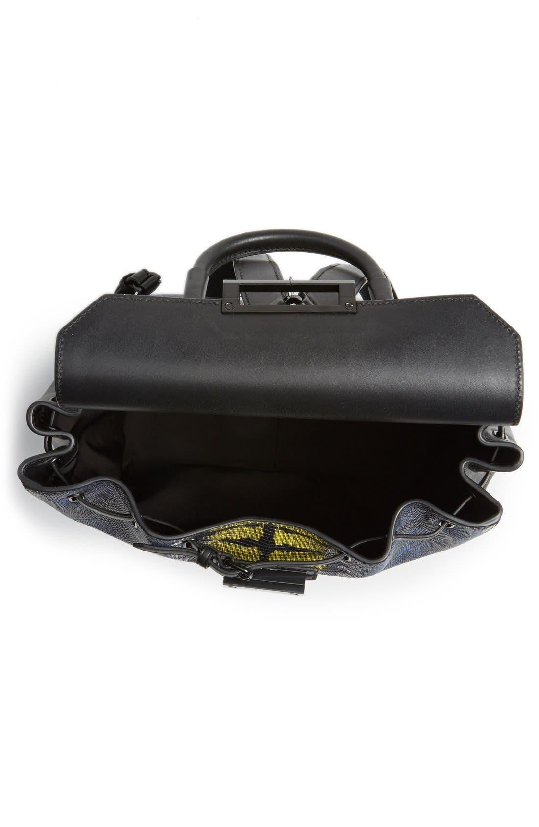 ,                             'Prisma' Lizard Embossed Backpack,                             Alternate thumbnail 3, color,                             700