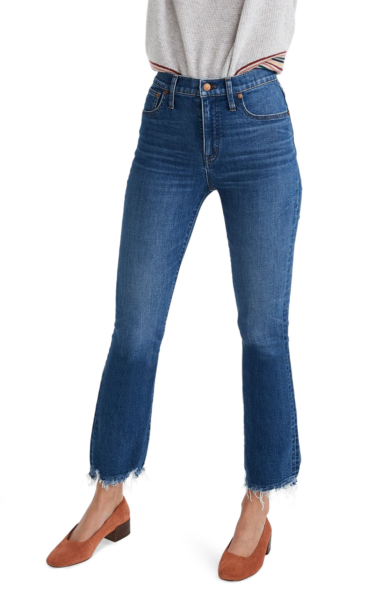 Madewell Cali Demi-Boot Jeans: Comfort Stretch Edition (Columbus Wash)