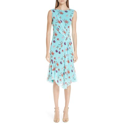 Fuzzi Floral Tulle Gathered Dress