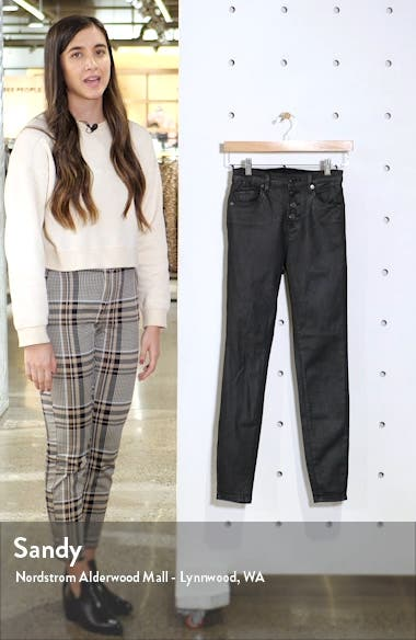 The Great Jones Coated High Waist Ankle Skinny Jeans, sales video thumbnail