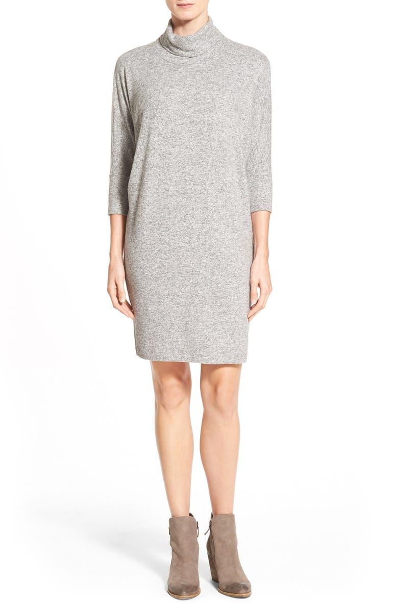 BOBEAU Cowl Neck Shift Dress, Main, color, 068