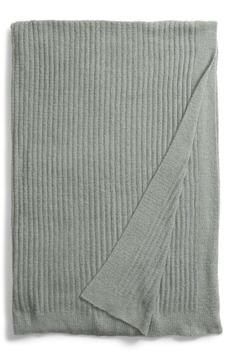 BAREFOOT DREAMS<SUP>®</SUP> Cozychic<sup>®</sup> Ribbed Throw Blanket, Main, color, ICEBERG GREEN