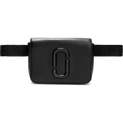 Marc Jacobs Hip Shot Leather Belt Bag - Black