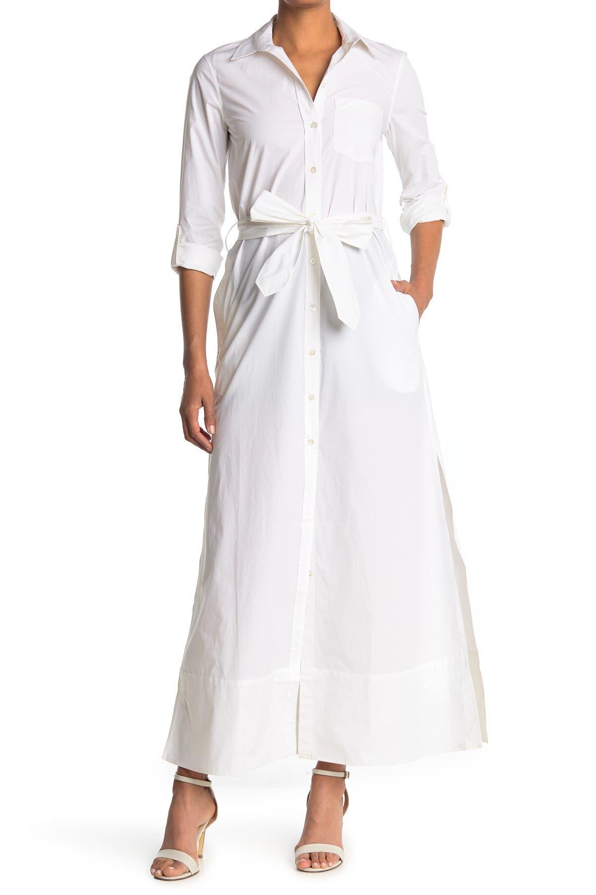 Image of BALDWIN Kerry Waist Tie Maxi Shirt Dress