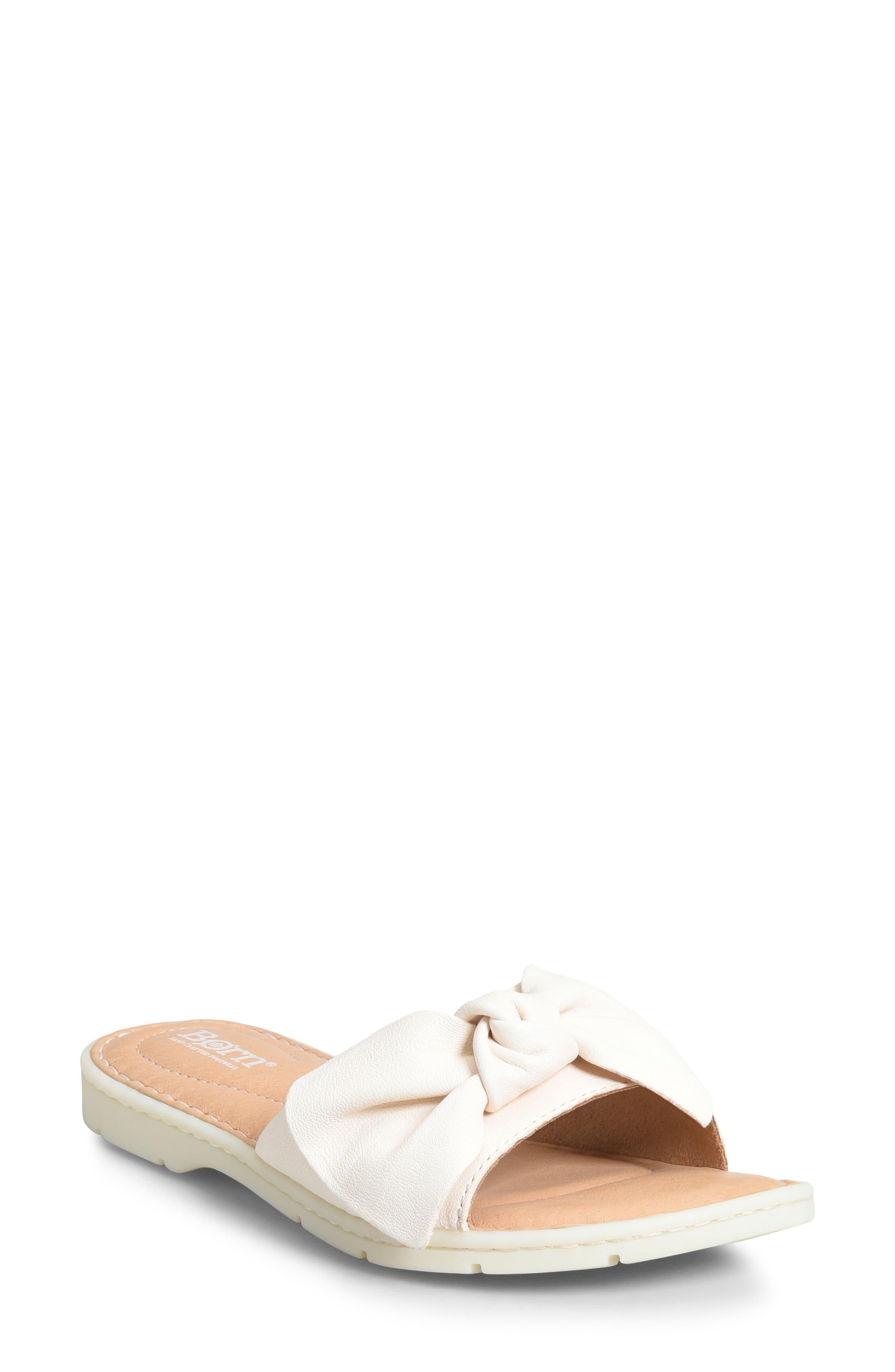 B?rn Teton Knotted Slide Sandal, White