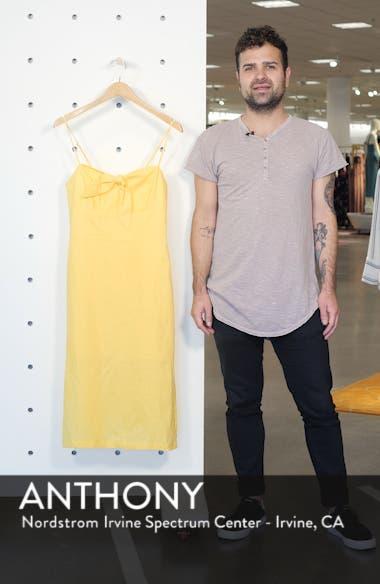 Bow Linen A-Line Dress, sales video thumbnail