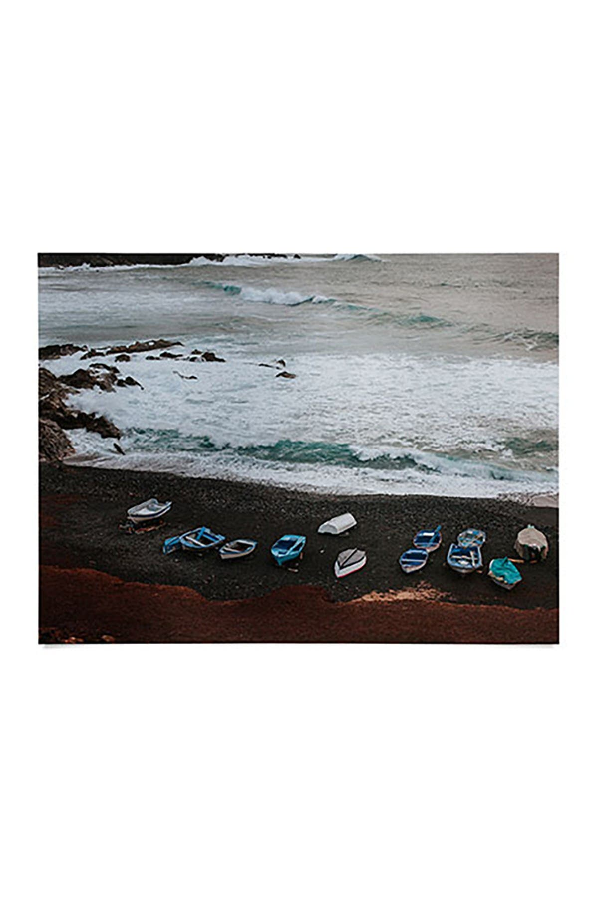 Image of Deny Designs Hello Twiggs Black Sand Boats Poster