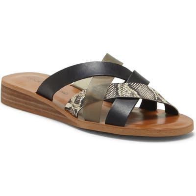 Lucky Brand Hallisa Slide Sandal, Black