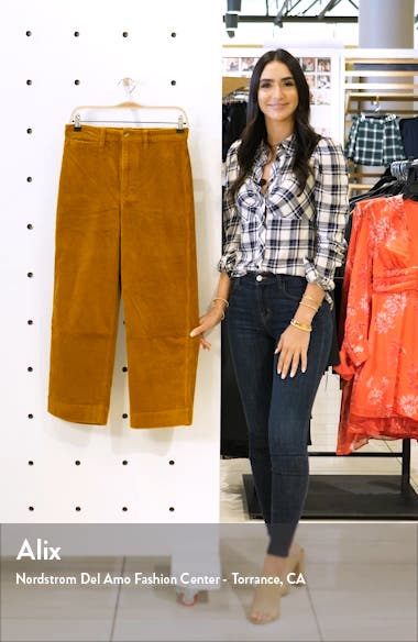 Slim Emmett Wide Leg Crop Pants: Corduroy Edition, sales video thumbnail