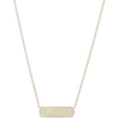 Meira T Diamond Love Pendant Necklace