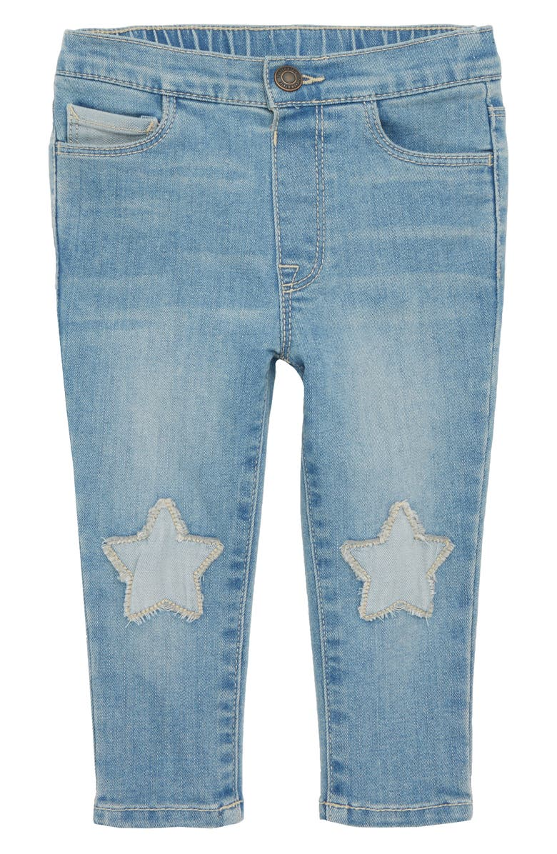 TUCKER + TATE Star Patch Skinny Jeans, Main, color, 450