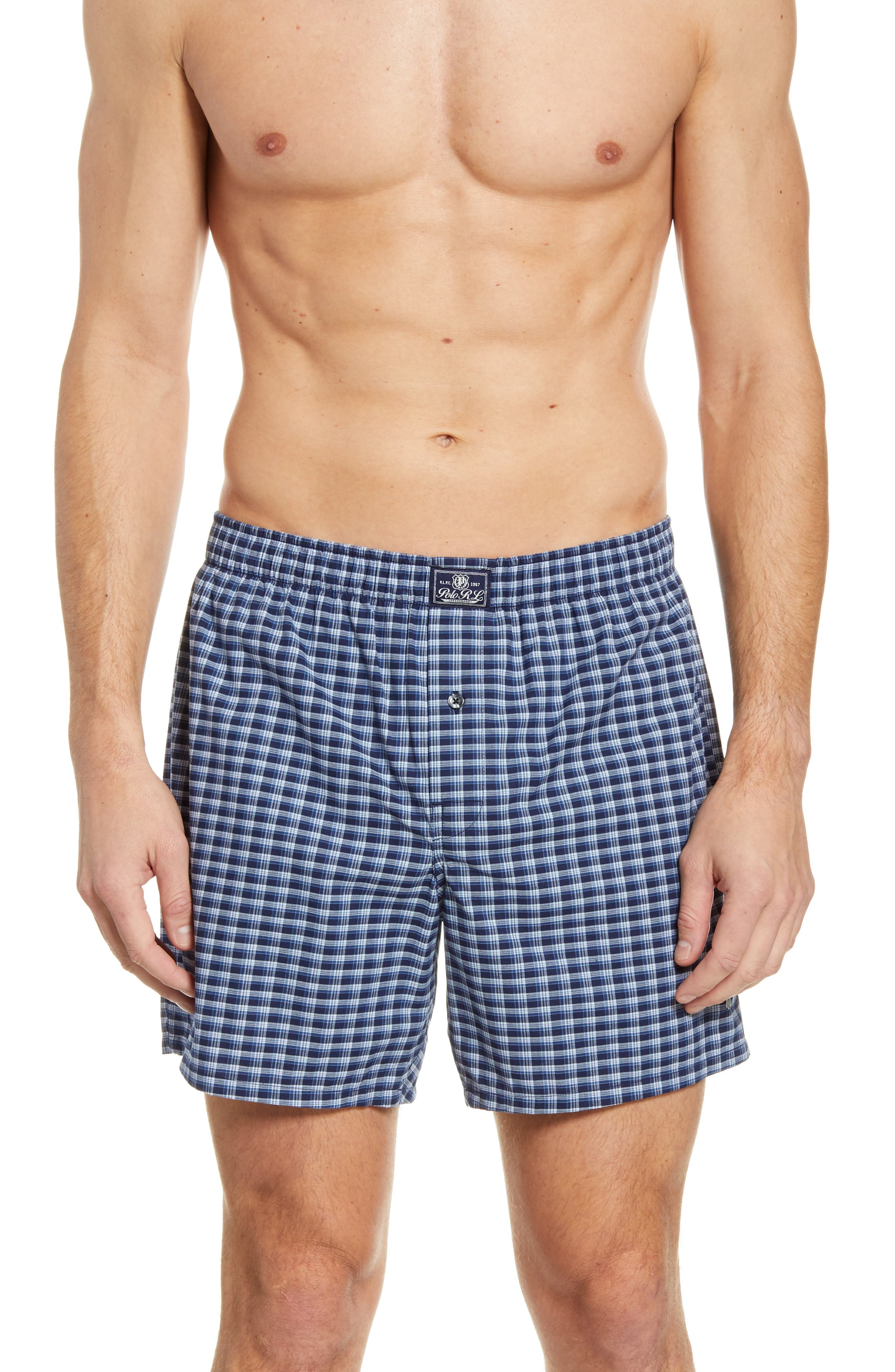 Image of Polo Ralph Lauren Davis Plaid Stretch Boxer