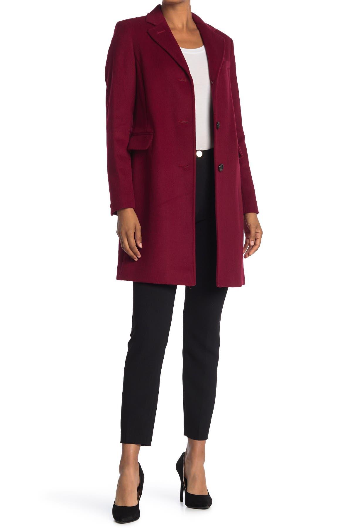 Image of Lauren Ralph Lauren Reefer Felted Wool Blend Coat