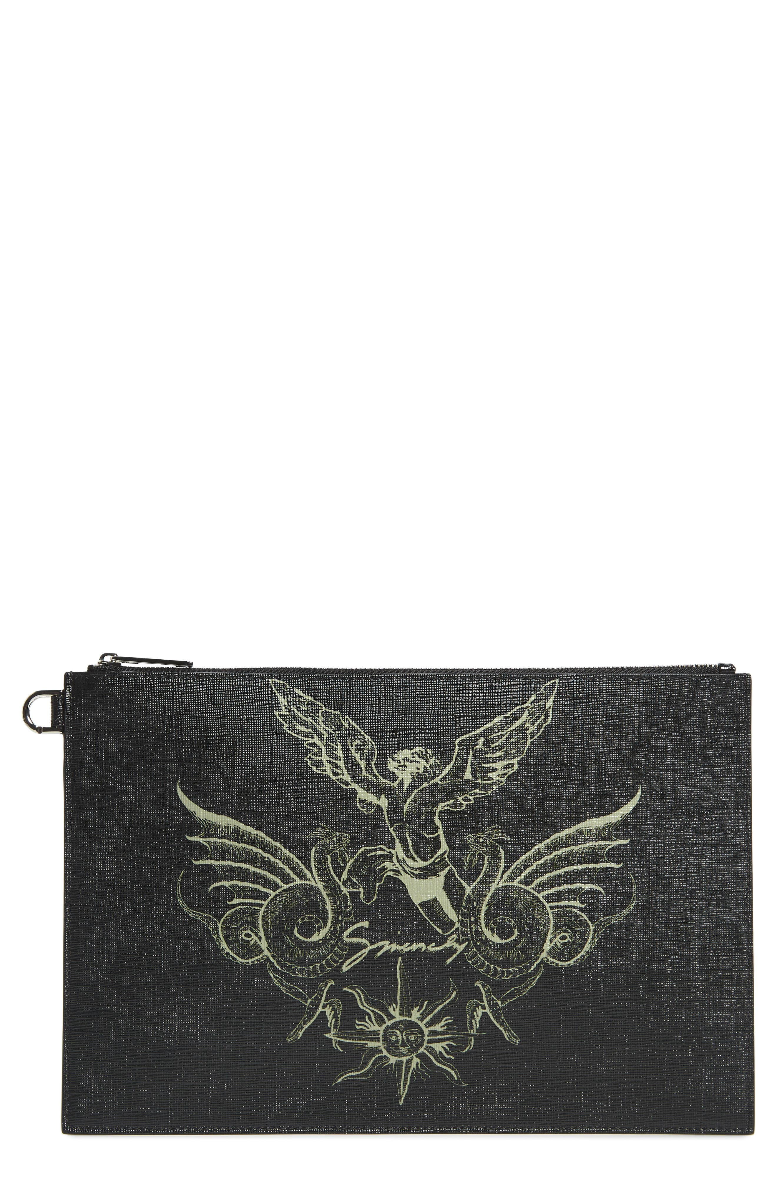 Givenchy Wallets Medium Icarus Faux Leather Pouch