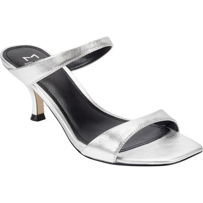 Marc Fisher Ltd Genia Slide Sandal- Metallic